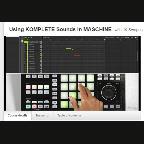 Using Komplete Sounds in Maschine